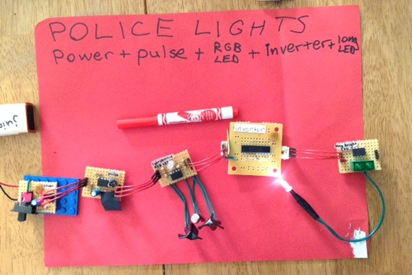 Large filled police lights thumbnail