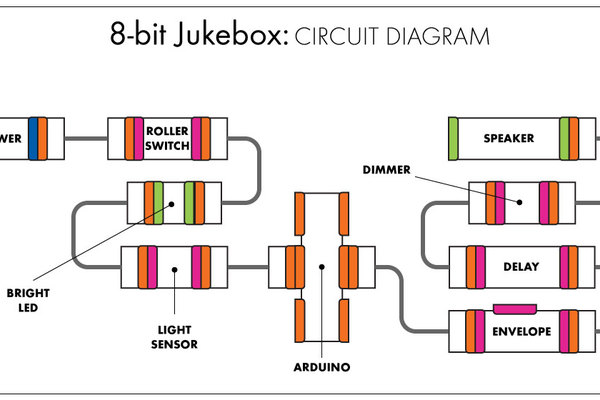 Large filled circuit diagram