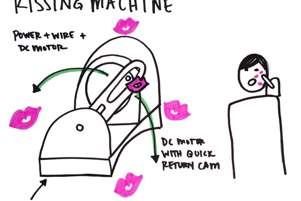 Large filled kissing machine